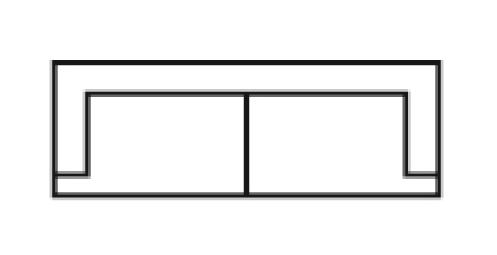 Čalouněná trojmístná pohovka Medarda Š 208 cm x V 82 cm x H 92 cm