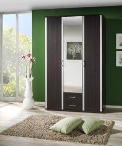 3-dveřová šatní skříň se zrcadlem Lister