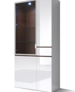 Bílá vitrína široká Cordelia