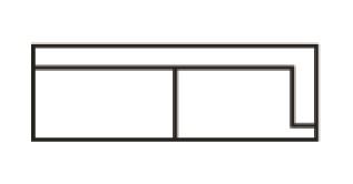Krajní třímístná část s napojením na levou stranu Jenna Š 166 cm x V 84 cm x H 98 cm