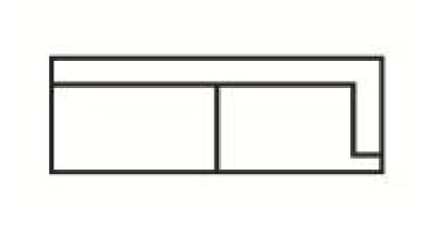 Krajní třímístný rozkládací díl s napojením na levou stranu Medarda Š 177 cm x V 82 cm x H 92 cm