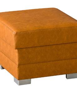 Malý čalouněný taburet Maelyn na mohutných nožkách