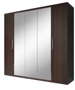Prostorná šatní skříň se zrcadly Ilinois