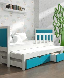 Dětská postel s přistýlkou a úložnými prostory Evita 26