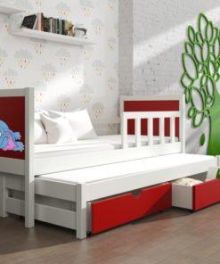 Dětská postel s přistýlkou a šuplíky Evita 23