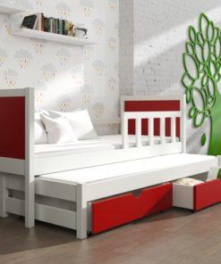 Jednolůžková dětská postel s přistýlkou Evita 24
