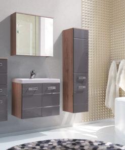 Koupelna Demario - dub san remo / šedý lesk