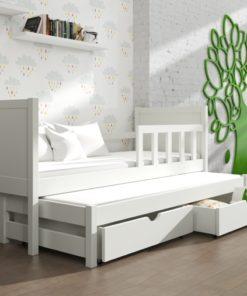 Světlá dětská postel s přistýlkou Evita 22