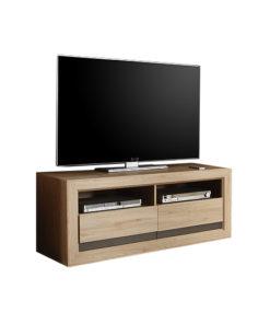 TV Komoda Ramón 2 s otevřenými přihrádkami na elektroniku