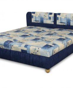 Čalouněná postel Bára - modrá