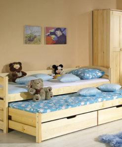 Dětská jednolůžková postel s přistýlkou Raul