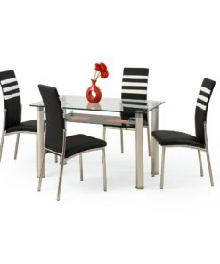 Prosklený jídelní stůl Elkin