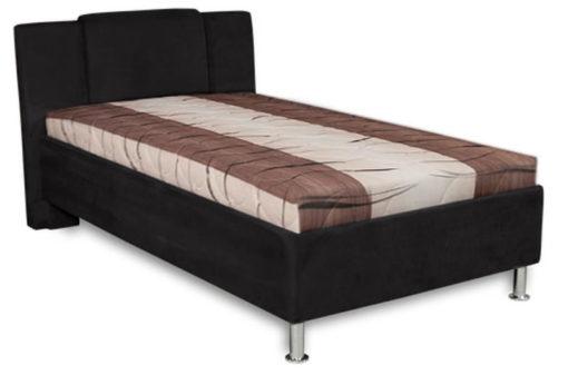Čalouněná postel Monako - hnědo-černá II
