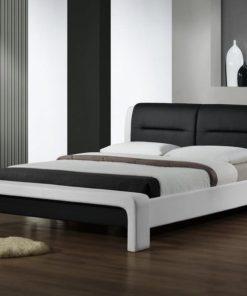 Černobílá manželská postel Luisa