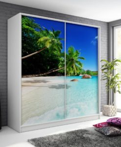 Šatní skříň s motivem pláže Monela 8