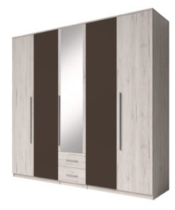 Šatní skříň se zrcadlem Bertol