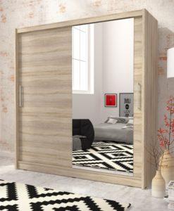 Šatní skříň se zrcadlem Hortensie 2