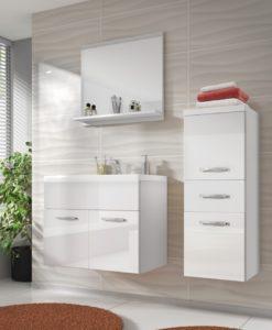 Bílá koupelna se závěsnými komponenty Horace 2