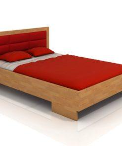 Buková manželská postel Inga 3 s čalouněným čelem