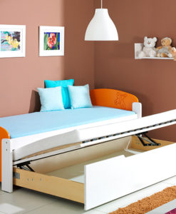 Dětská jednolůžková postel s přistýlkou Mildred