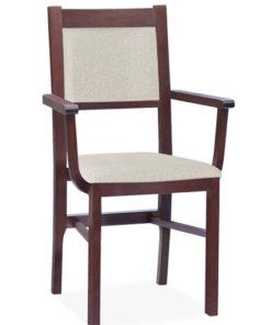 Dřevěná jídelní židle s područkami Mahana