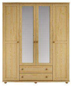Elegantní šatní skříň Lain se zrcadly