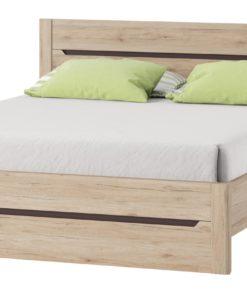 Elegantní dvoubarevná manželská postel Emanuela