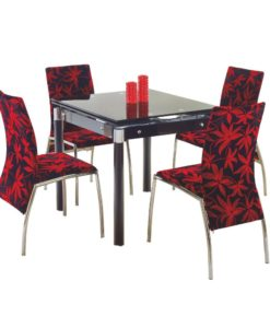 Jídelní set pro 4 osoby Orsol 3 - černý