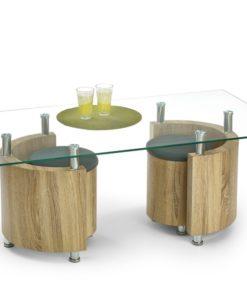 Konferenční stolek s taburety Simao 1