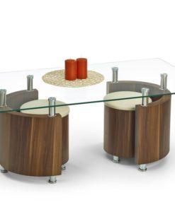 Konferenční stolek s taburety Simao 3