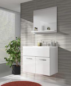 Koupelnová sestava Horace 4 - bílá / bílý lesk