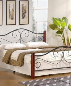 Kovová manželská postel Maneto