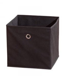 Látkový úložný box Heli 2 - černý