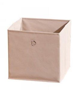 Látkový úložný box Heli 3 - béžový