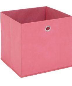 Látkový úložný box Heli 6 - růžový