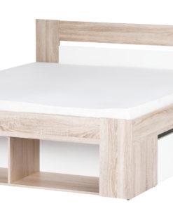 Manželská postel s úložným prostorem a nočními stolky Rebeka