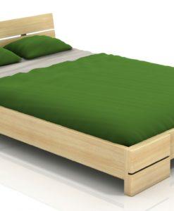 Masivní postel z borovice Leila