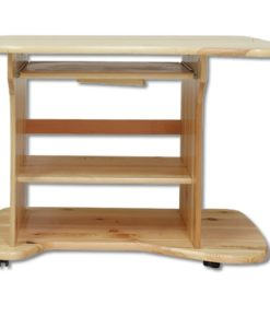 Pojízdný dřevěný psací stůl Ansi na kolečkách