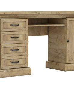 Rustikální psací stůl Meryl - dub kraft