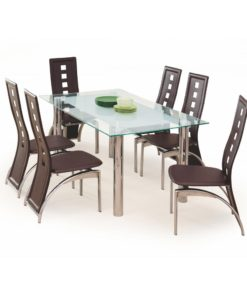 Skleněný jídelní stůl Belial