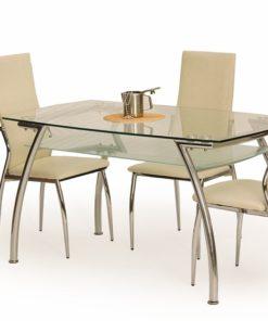 Skleněný jídelní stůl Edin