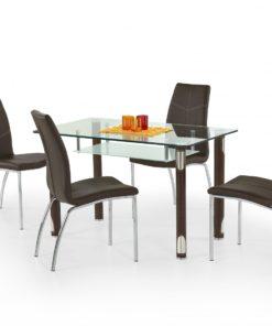 Skleněný stůl Marcos 1 - hnědý