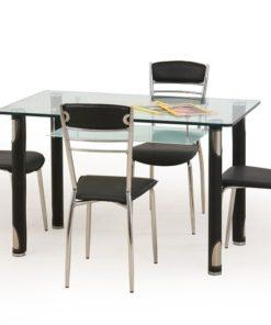 Skleněný stůl Marcos 2 - černý