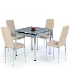 Skleněný stůl Nestor 3 - béžový