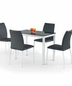 Skleněný stůl Oresto 1 - černá / bílá