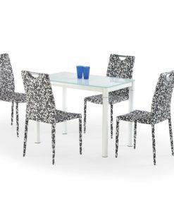 Skleněný stůl Oresto 2 - mléčná / bílá