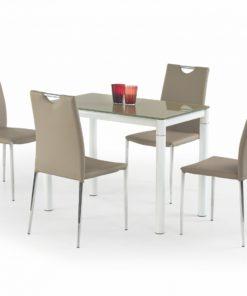 Skleněný stůl Oresto 3 - béžovo-bílá