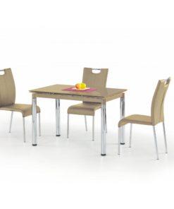 Skleněný stůl Saverio 1 - béžový