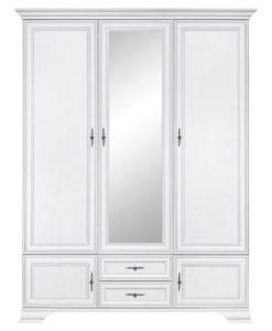 Třídveřová šatní skříň Lettore 2 - bílá