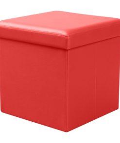 Taburet Elermo 4 - červený